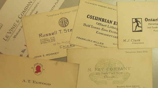 Business cards 1930s chicago collection reheart Images