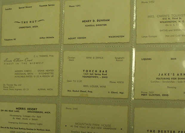 Photo business cards 1940s business reheart Gallery